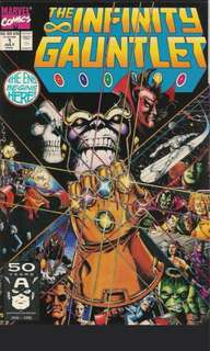 Infinity Gauntlet #1-6 Complete Limited Series (Marvel Comics 1991 - 6 Comics)