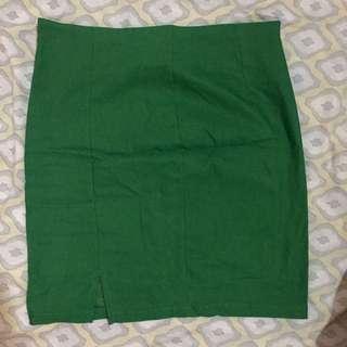 Rok span mini hijau