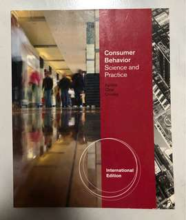Consumer Behaviour Science and Practice Textbook