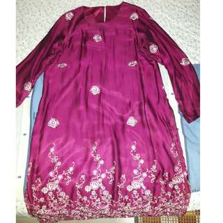 Fully lined sequins mini kurung