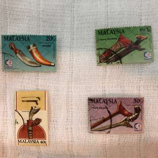 Malaysia Stamps Keris Collection