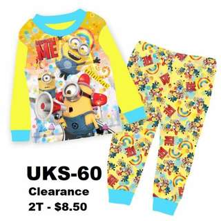 Clearance---  Minion Long Sleeve Pyjamas