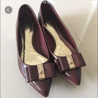 Authentic coach red pumps flats shoes