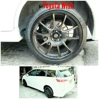 Tyre 225/40 R18 Membat on Toyota Wish 🐕 Super Offer 🙋♂️
