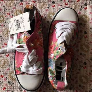 Polo RL girl's sneakers floral