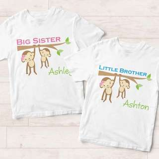 Personalized Siblings T-Shirt (Matching Design for Brother & Sister)