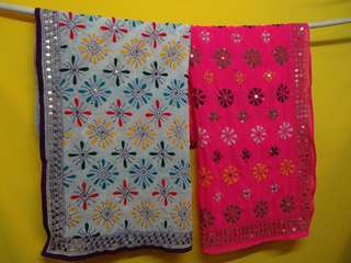 india hand embroidery scarf