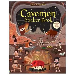 BN Usborne Cavemen sticker book