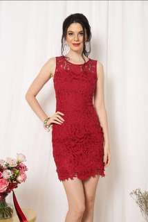 Alicia Crochet Hem Dress