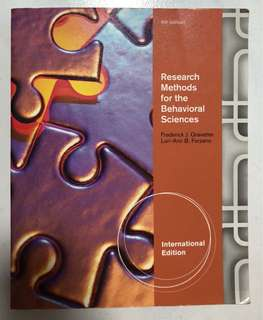 Research Methods for the Behavioural Sciences Textbook