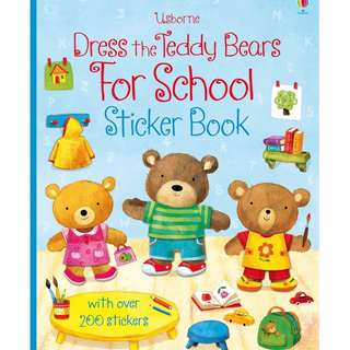 "BN Dress the teddy bears for school sticker book ""free postage"""