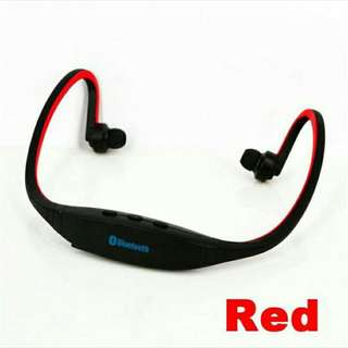 Sport Wireless Bluetooth Stereo Headphone RED available
