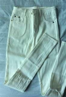 White Skinny long pants