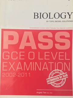 O level Biology past year paper