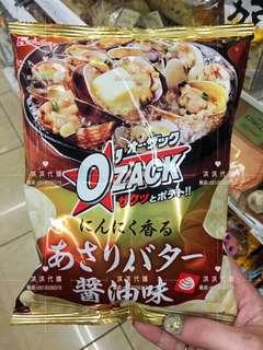 🚚 日本Ozack醬油蛤蠣酥脆餅乾