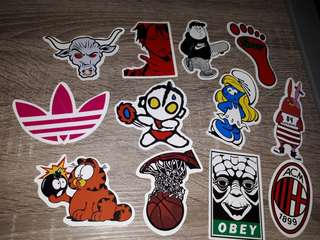 Set 18 stickers for car.laptop.motor.waterproof