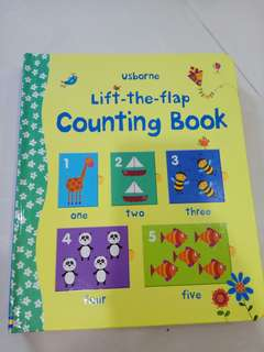 Usborne lift the flap counting book