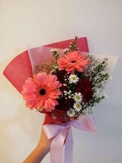 Rose-gerbera bouquet