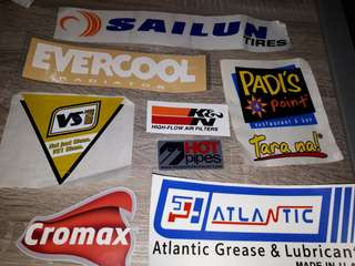 Brands car stickers set 1