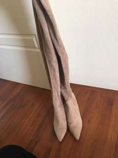 Wittner suede thigh high boots