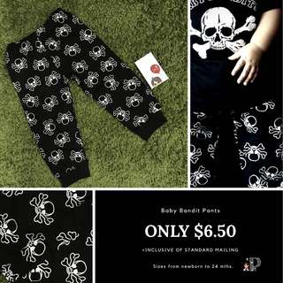 Skull pants for babies newborn to 24 months