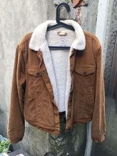 🚚 Pull&bear 羊羔毛燈芯絨oversize外套