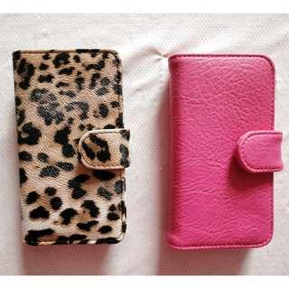 iPhone 5 摺合 手機 電話套 (粉紅/豹紋) #MAYFLASHSALE