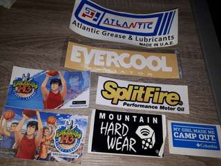 Brands car stickers set 3