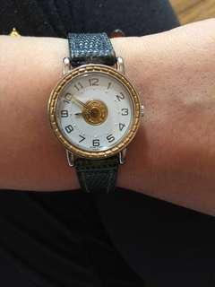 正貨 Hermes watch 手錶 配原裝錶盒+錶帶