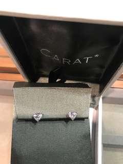 Carat heart shaped earrings