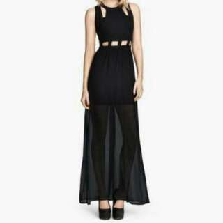 H&M black cut-out dress