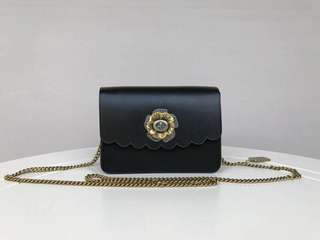 Coach Bowery Crossbody Bag with Tea Rose Turnlock - black