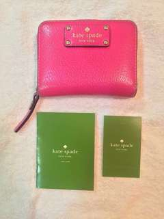 50% off! 🎉Pre-loved authentic Kate Spade pink wallet (small) #sweldosale6