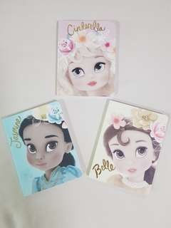 Disney Princess Belle Cinderella Jasmine Journal