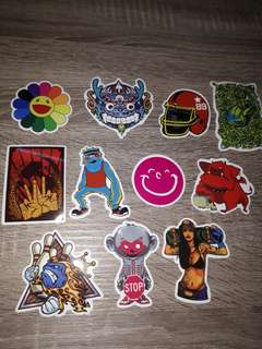 Set 22 stickers for car.laptop.motor.waterproof