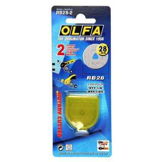 Olfa 28mm Rotary Blade 2-pack