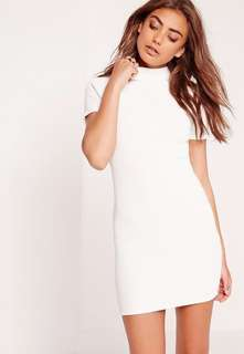 💯 F21 Ribbed Bodycon Off White