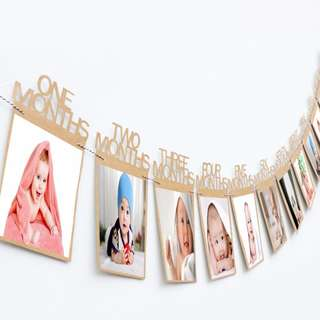 INSTOCK NEW BABY BIRTHDAYS BANNERS 12 MONTH