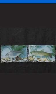 Malaysia 1983 Fresh Water Fish Loose Set - 2v Used Stamps #1