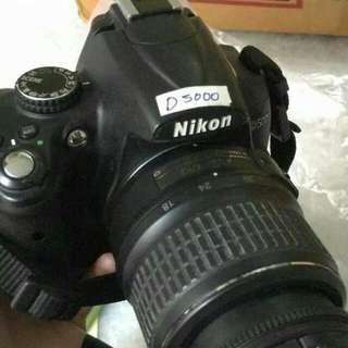 kamera nikon d5000 no box pakai tas