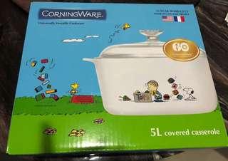 5L Snoopy Corningware Casserole