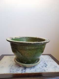 Old Chinese Green Glazed Pot