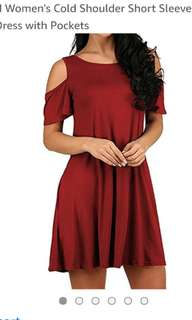 New with tag cold shoulder dress