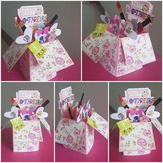 Mother's Day Card/Pop up box card/ 3D box card/cards/