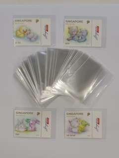 Transparent stamps pocket 4cm x 5.5cm (one opening)