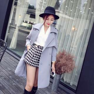 Dusty Blue Trench Coat
