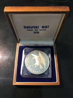 1974 Singapore 🇸🇬 $10 Eagle 🦅 Silver Proof, UNC. Lowest In Carousell