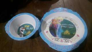 Disney Frozen Plate and Bowl kids