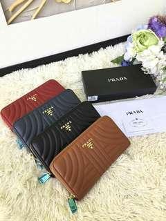 Prada soft leather wallet