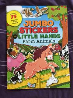 BN Jumbo Sticker for Little Hand (Farm Animal) * Free Postage*